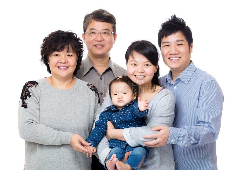 Familia feliz de Asia imagen de archivo