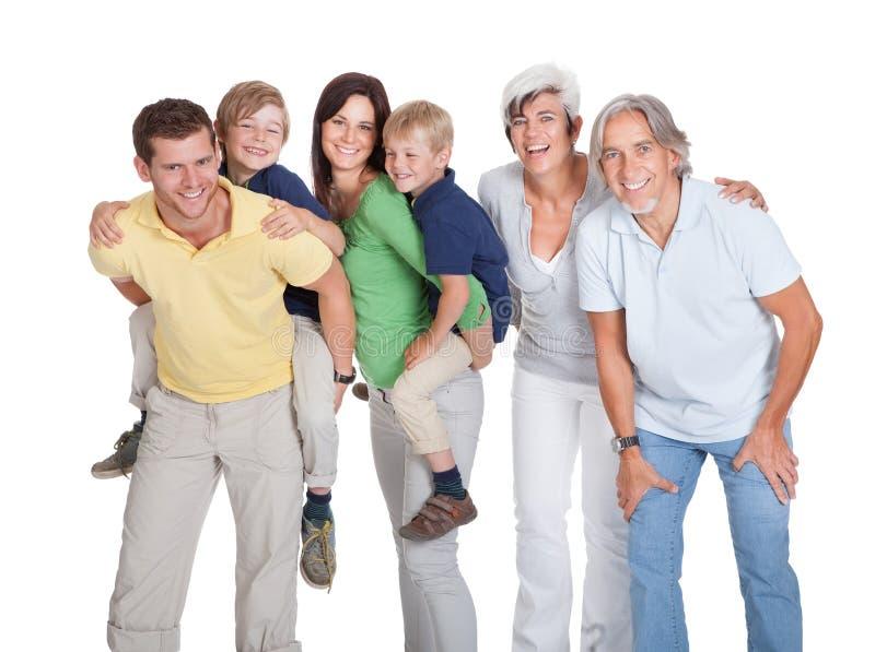Familia feliz de las generaciones fotos de archivo libres de regalías