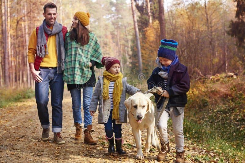 Familia feliz durante otoño fotos de archivo libres de regalías