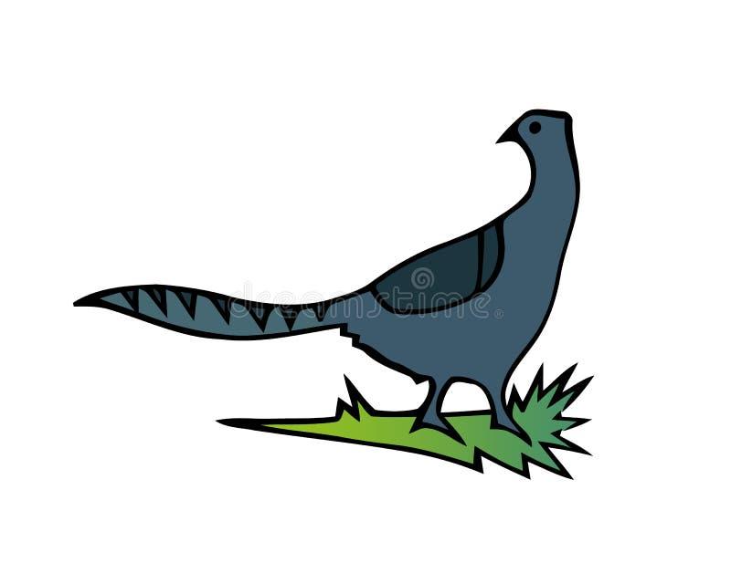 Familia francesa del faisán del pájaro de juego de la perdiz, pájaro de vuelo de la perdiz La fauna animal del pájaro salvaje de  ilustración del vector