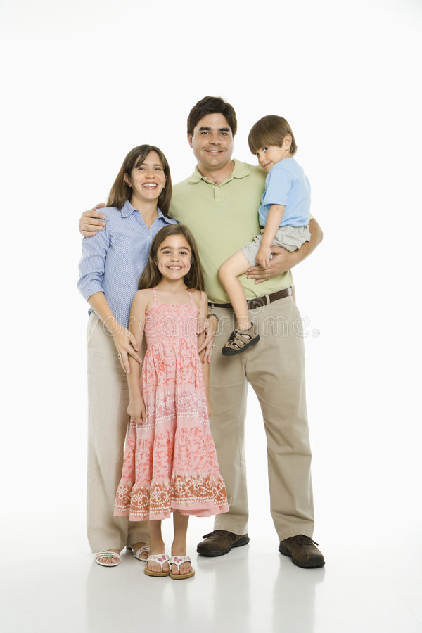 Familia hispánica. foto de archivo