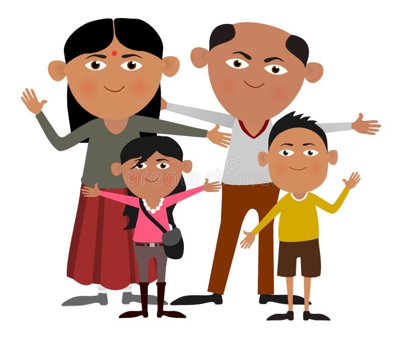 Familia india ilustración del vector
