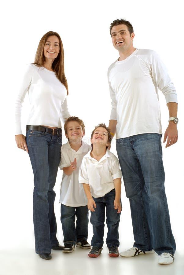 Familia joven emocionada fotografía de archivo libre de regalías