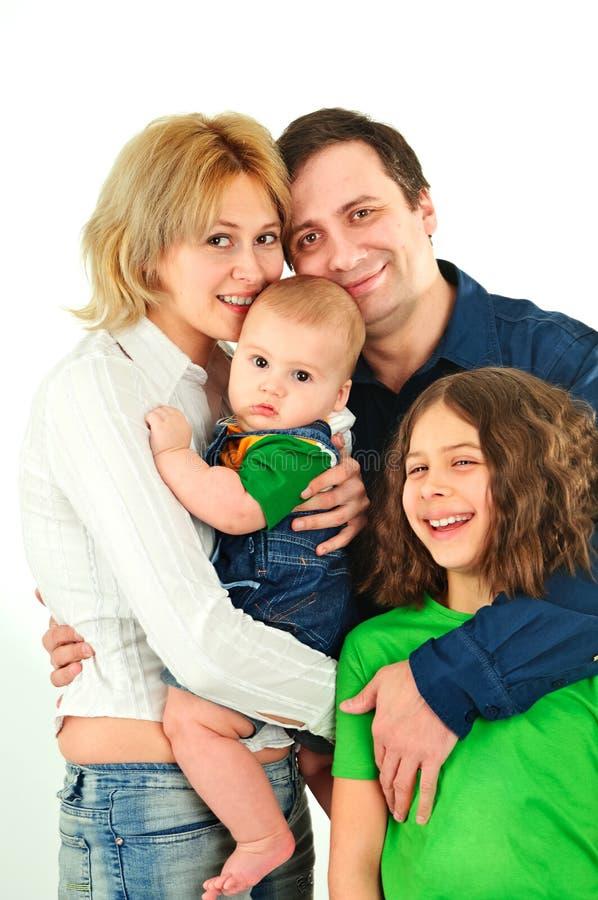 Familia joven feliz imagen de archivo