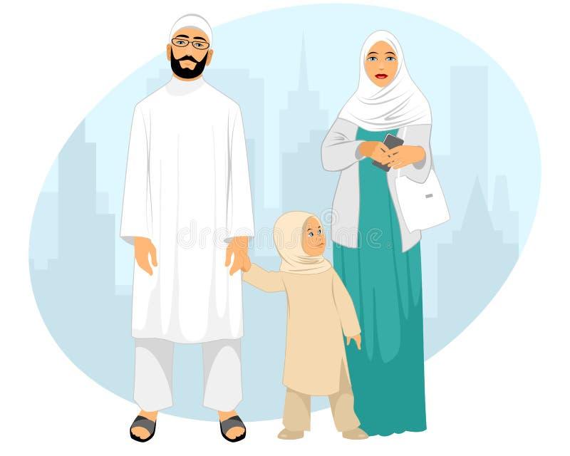 Familia musulmán joven foto de archivo