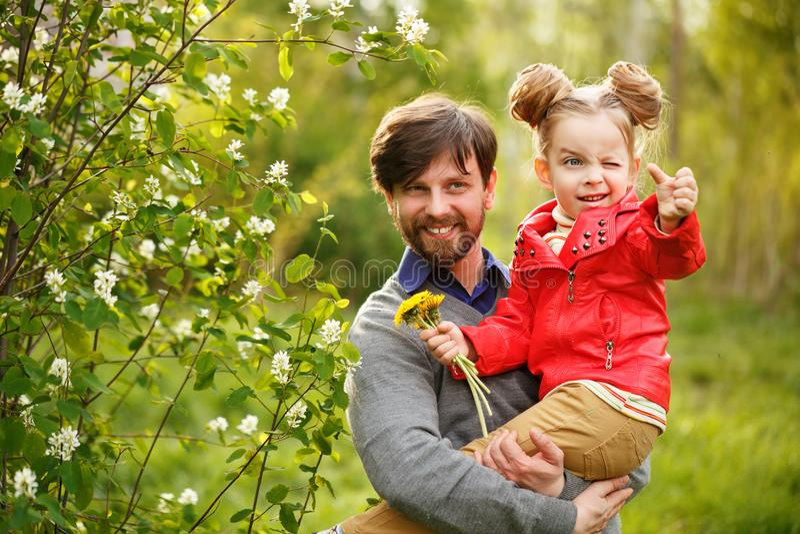 Familia Padre e hija imagen de archivo libre de regalías