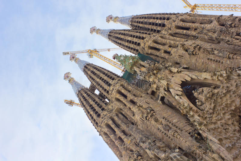 familia sagrada Ισπανία της Βαρκελώνης στοκ φωτογραφία