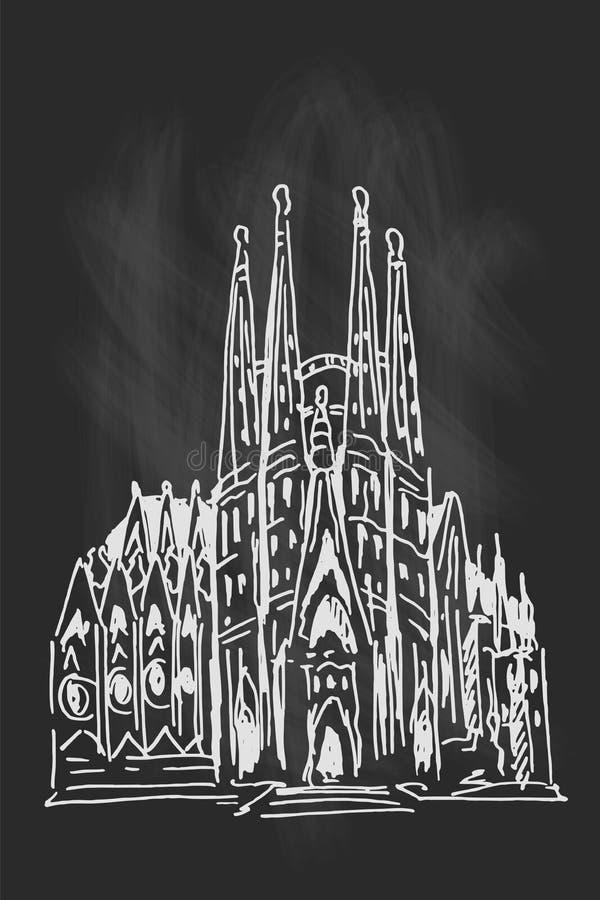 familia sagrada καθεδρικών ναών της Βαρκελώνης στοκ εικόνες