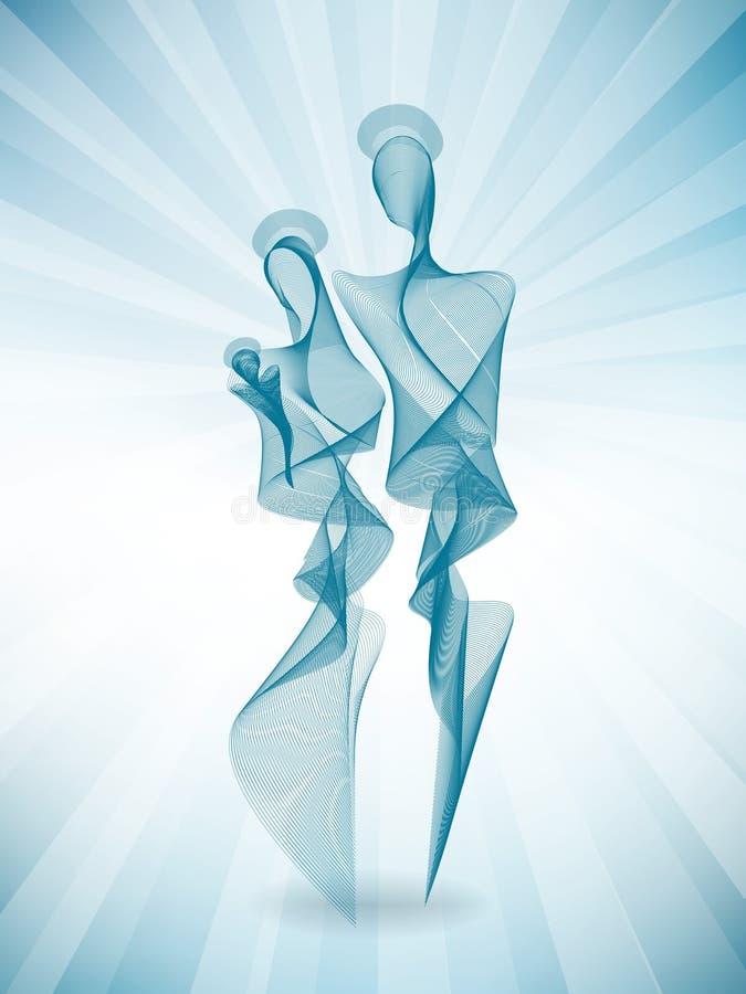 Familia santa abstracta moderna con los rayos ligeros Efecto de la mezcla del vector ilustración del vector