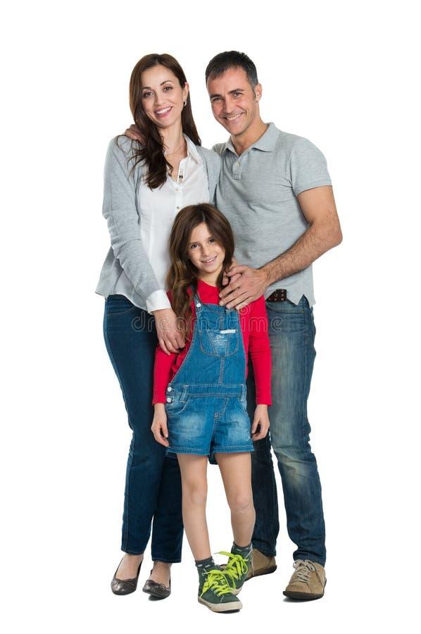 Familia sonriente feliz imágenes de archivo libres de regalías
