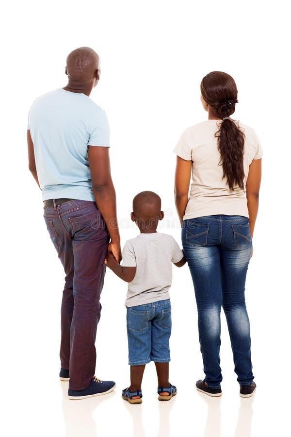 Familia trasera del africano de la visión foto de archivo