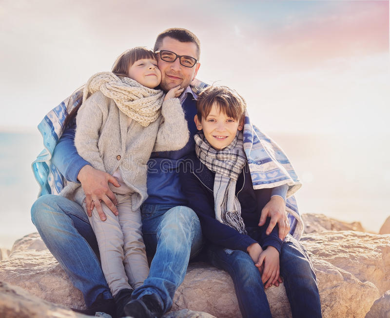 Familia, vacaciones, concepto del turismo foto de archivo libre de regalías