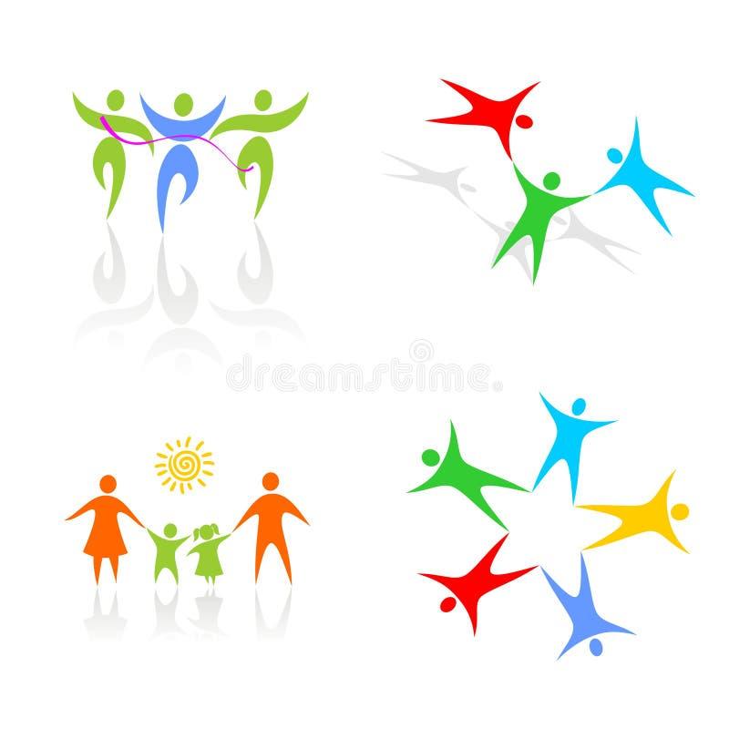 Familia y comando ilustración del vector