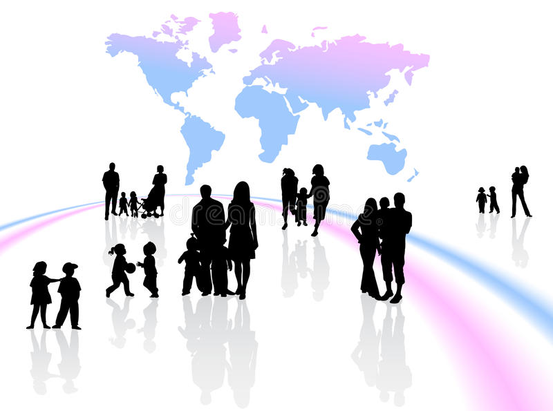 Familias stock de ilustración