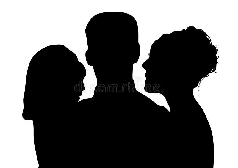 Familie 1 royalty-vrije illustratie