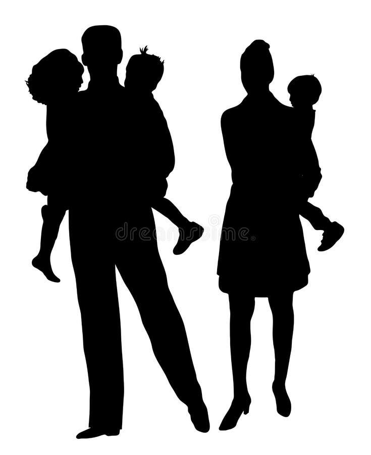 Familie 3 stock illustratie
