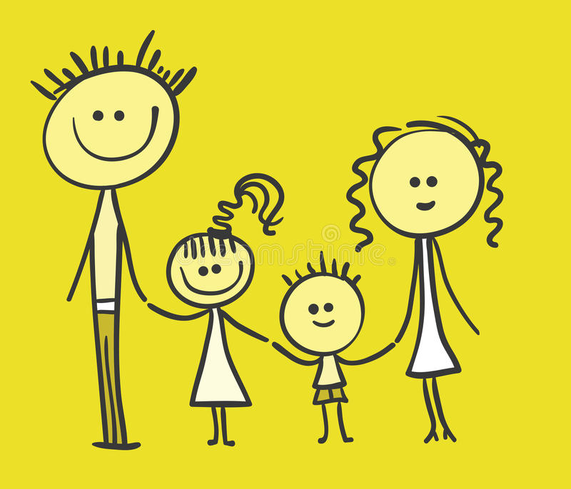 Familie vektor abbildung