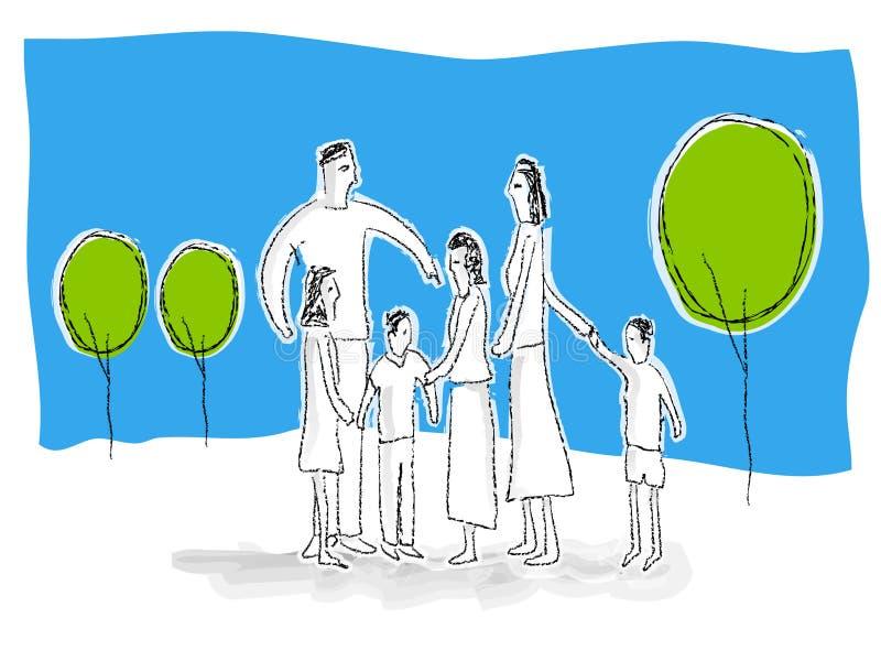 Download Familie stock abbildung. Illustration von skizze, muttergesellschaft - 870573