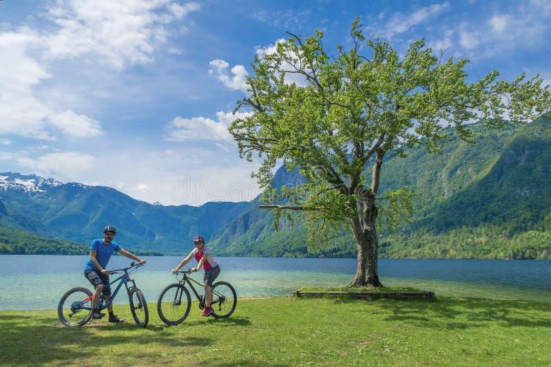 Familie actieve vakantie Groene bestemming royalty-vrije stock afbeelding