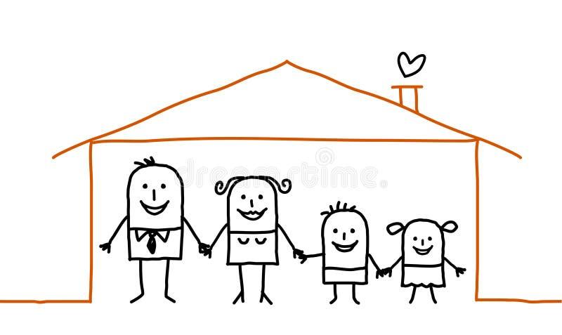 Familie & huis stock illustratie