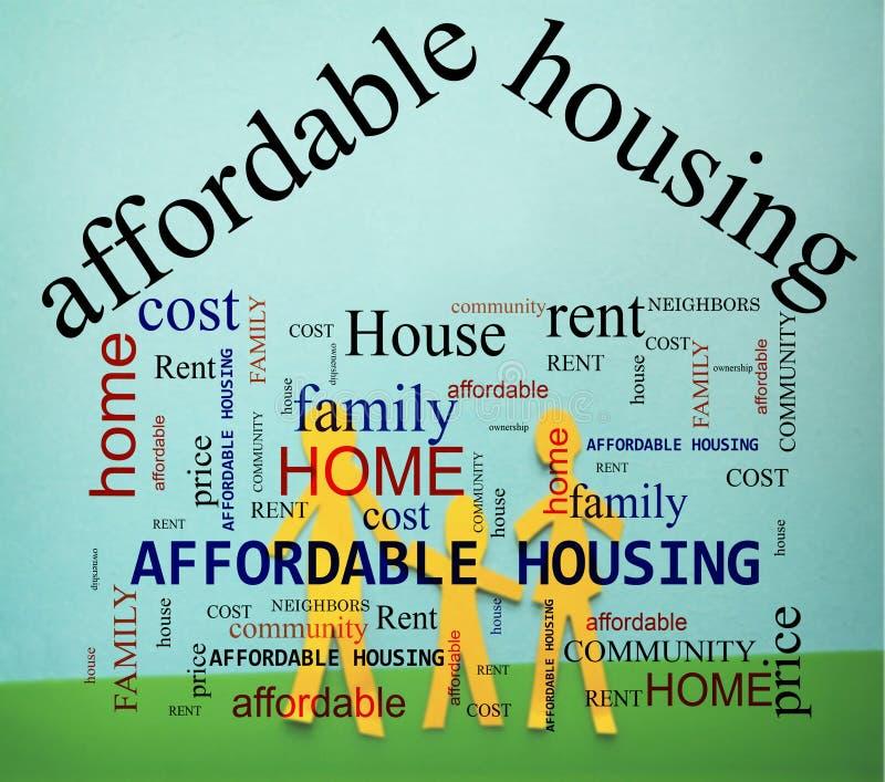 Familie Betaalbare Huisvesting stock afbeelding