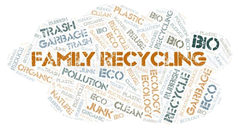 Familie de wolk van het Recyclingswoord vector illustratie