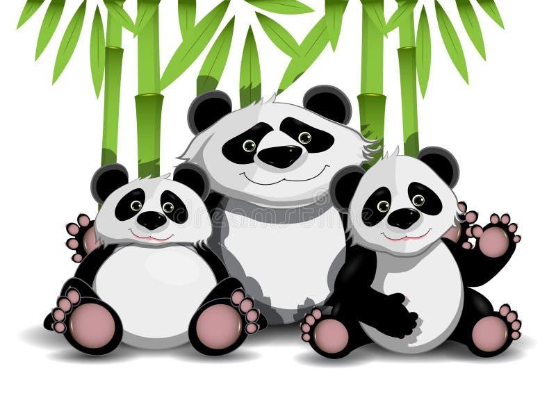 Familie der Pandas stock abbildung