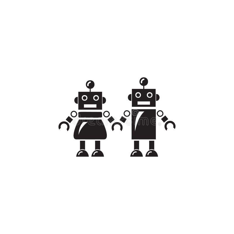 Familie der Roboterikone Element von Robotern für Werbeschilder, bewegliches Konzept und Netz apps Ikone für Website Design und d lizenzfreie abbildung