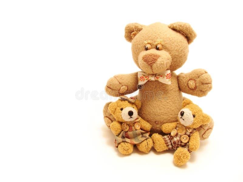 Familie der Teddybären lizenzfreie stockfotos