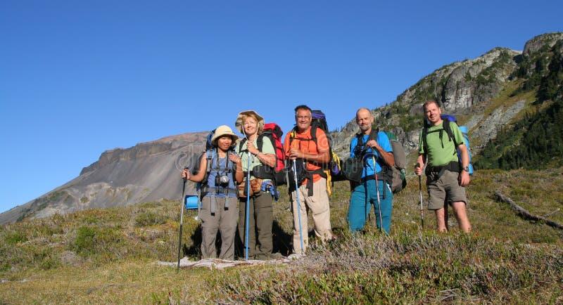 Familie der Wanderer lizenzfreie stockfotos