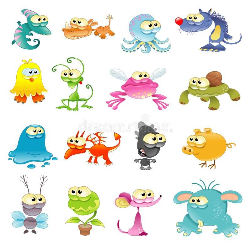 Familie des Monsters stock abbildung