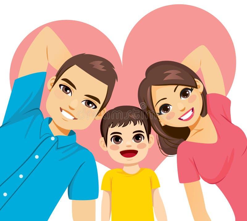 Familie, die auf Fu?boden liegt lizenzfreie abbildung