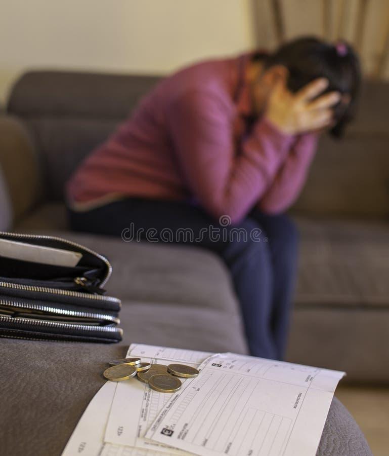Familie economische crisis stock fotografie