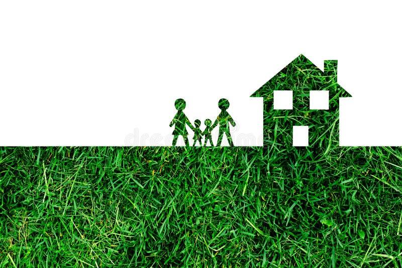 Familie en Huis stock afbeelding