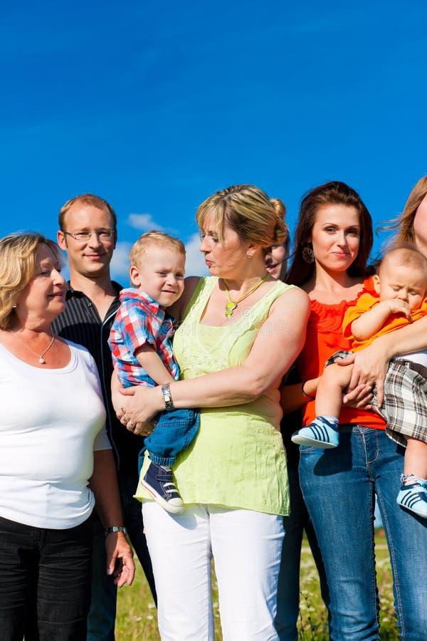 Familie en van meerdere generaties stock foto
