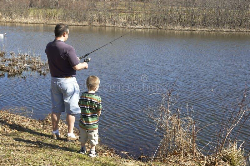 Familie fishermans lizenzfreie stockbilder