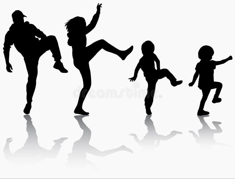 Familie gymnastisch zusammen vektor abbildung