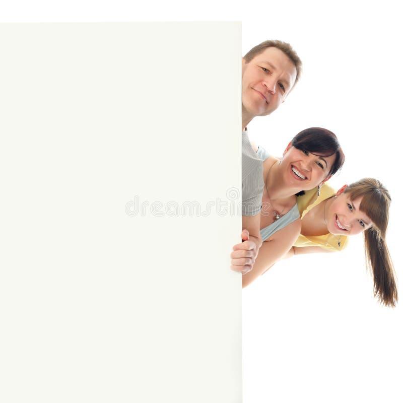 Familie heraus schauen stockfoto