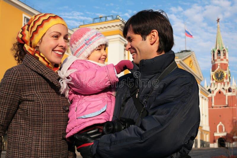 Familie het Kremlin Rusland Moskou stock fotografie