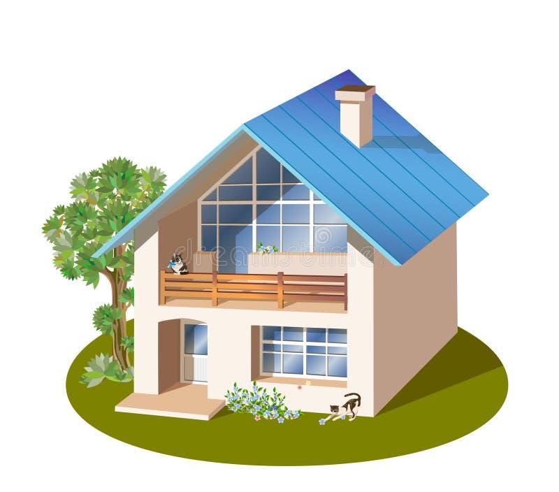 familie huis vector illustratie
