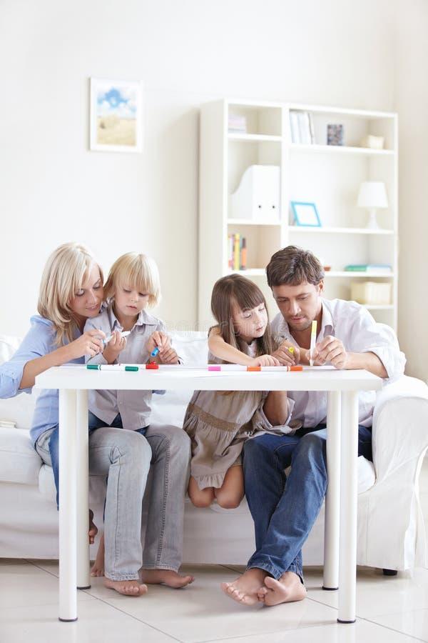 Familie Idyll lizenzfreies stockbild