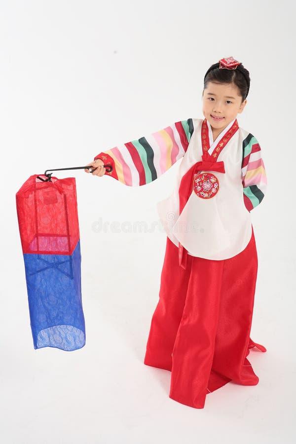 Familie in Koreaanse Kleding stock afbeeldingen