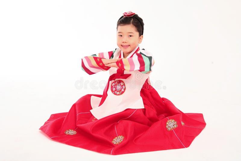 Familie in Koreaanse Kleding stock afbeelding