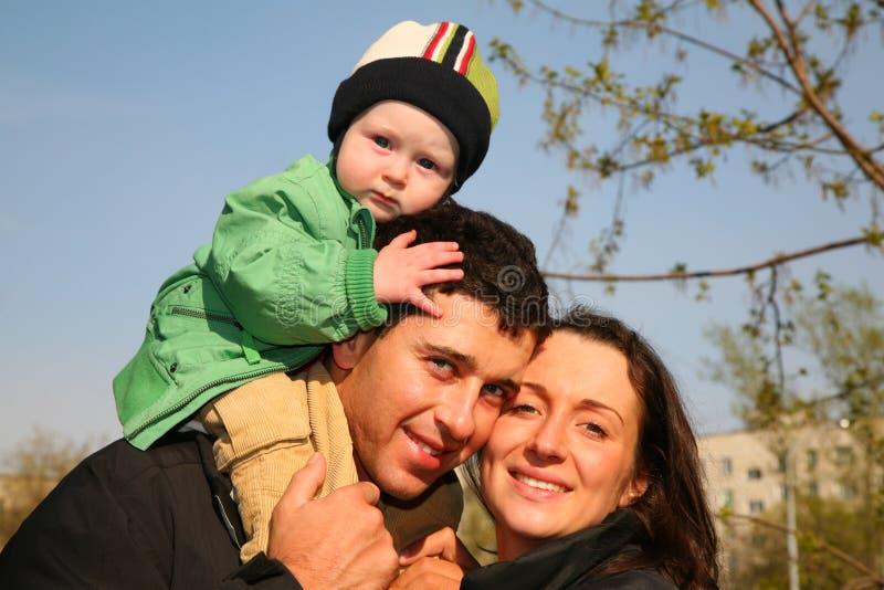 Familie met baby royalty-vrije stock foto