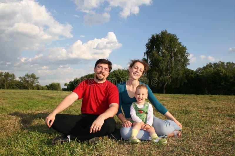 Familie met baby stock foto