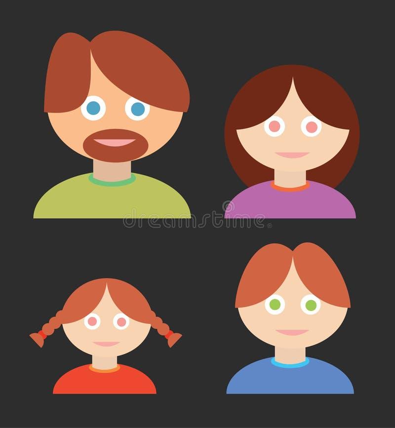 Familie met de Mens, Vrouw, Kinderen royalty-vrije stock foto