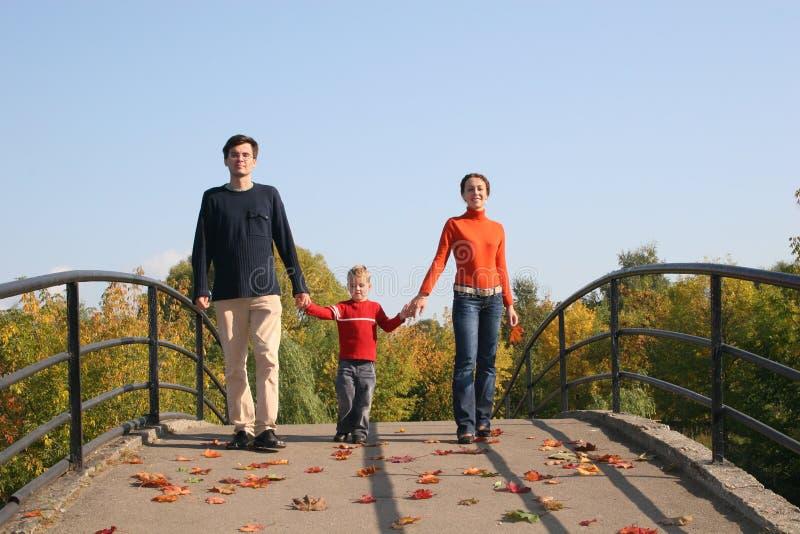 Familie Met Jongen Stock Afbeelding