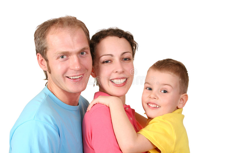 Familie mit Jungen lizenzfreies stockbild