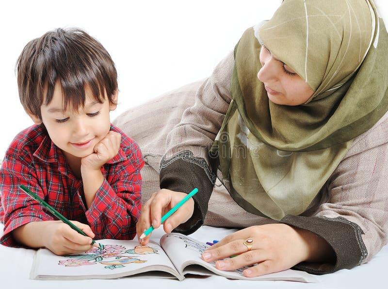 Familie moslim stock foto's