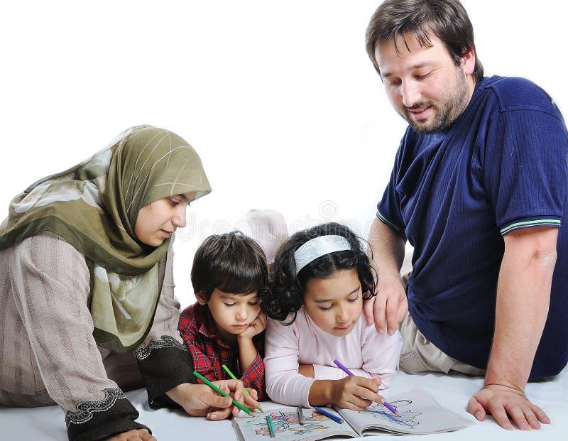 familie moslim royalty-vrije stock fotografie